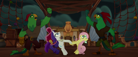 Rarity and Fluttershy dancing with pirates MLPTM