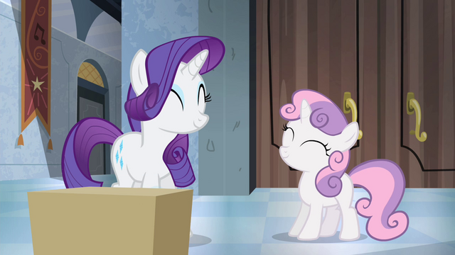 File:Rarity and Sweetie Belle happy again S4E19.png