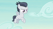 Rumble hovers over the Cutie Mark Day Camp S7E21