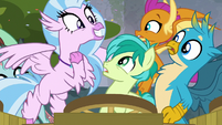 Silverstream excited by the Mane Six S8E2