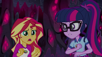 "Sunset Shimmer ""trying to make it seem like"" EG4"