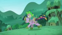 Twilight and Spike runs to escape S5E26