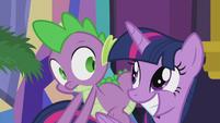 Twilight anticipating Spike's reaction S5E20