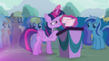 Twilight organizing her flash cards S4E16.png