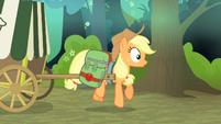Applejack's cart gets hit S4E17