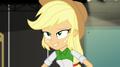 Applejack grins playfully at Pinkie Pie EGS2.png