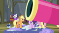 Applejack looks at Big Bertha party cannon S8E7.png