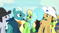 Appleloosa ponies getting restless S5E6.png