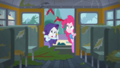 Birds fly out of the bus over Pinkie Pie and Rarity SS13.png
