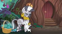 Bunny Fluttershy hugs Zecora's hoof S9E18