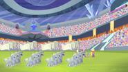 Equestria Games golden Crystal Empire flags S04E24