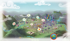 Equestria Girls website - Map of Canterlot