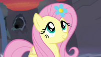 Fluttershy with flower in her mane S4E16