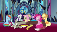 Mane Six sitting around weak Discord S9E2