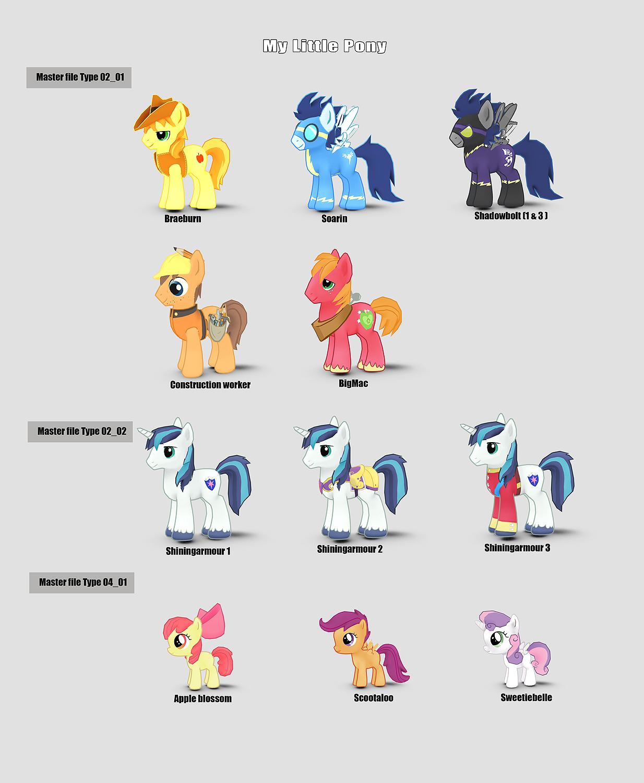 image my little pony mobile game master file 3d model renderings