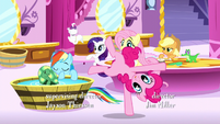 Pinkie Pie cartwheels across the room S5E13