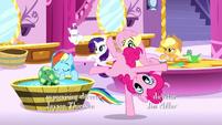 Pinkie Pie cartwheels across the room S5E13