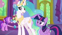 "Princess Celestia ""watching your student shine"" S7E1"