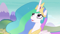 Princess Celestia looking at Twilight S8E2