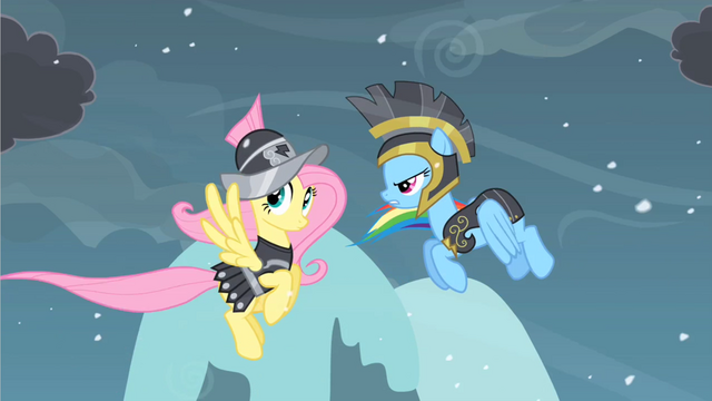 Файл:Rainbow Dash and Fluttershy S02E11.png