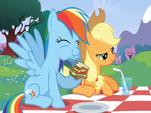 Rainbow Dash y Applejack
