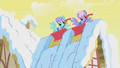 Rainbowshine and Snowslide shoveling snow S1E11.png