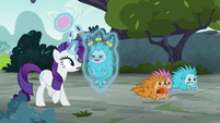 Rarity sees puckwudgies running away S8E2