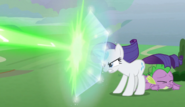 Rarity uses shield S9E25