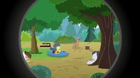 Rumble and his campers doing various activities S7E21