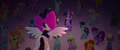 Songbird Serenade flying over Twilight Sparkle MLPTM.png