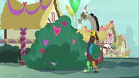 Spike falls over into the bushes S8E10