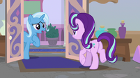 Trixie appears at Twilight's office door S9E20