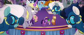 Wonderbolts and Derpy doing aerial choreography MLPTM