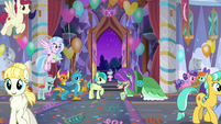 Young Six together at the school entrance S9E7
