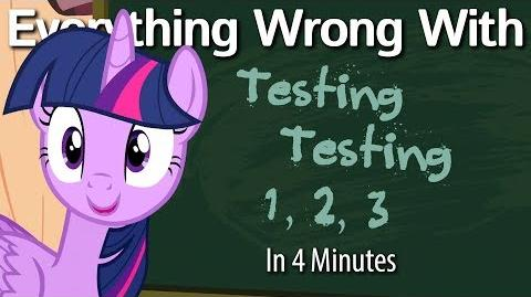 (Parody) Everything Wrong With Testing Testing 1, 2, 3 in 4 Minutes
