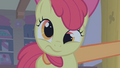 Apple Bloom being shaken by Applejack S1E09.png