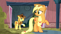 Braeburn entering the barn S5E6