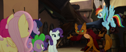 Capper introduces himself to the Mane Six MLPTM