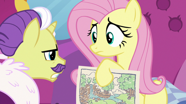 File:Dandy disapproves of Fluttershy's color scheme S7E5.png