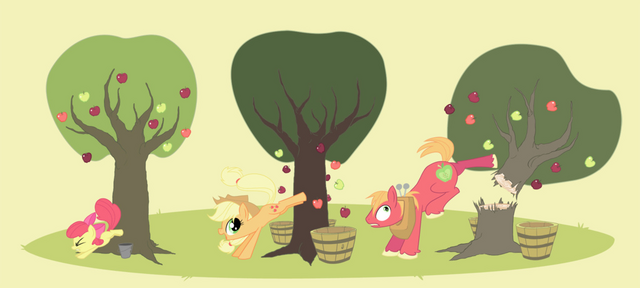File:FANMADE Apple family applebucking.png
