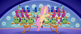 Fluttershy conducting a bird orchestra MLPTM