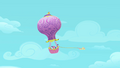 Fluttershy flying the balloon S2E02.png