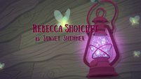 Legend of Everfree credits - Rebecca Shoichet EG4