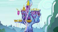 Pan-down shot of Castle of Friendship S7E3
