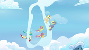 Pegasi flying through a cloud ring S3E07