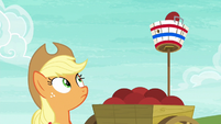 Pinkie Pie's ball lands in the basket S6E18