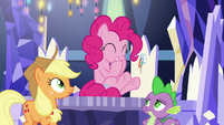 Pinkie Pie laughing at her own gag S9E14