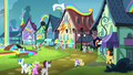 Ponies at the Rainbow Falls train station S4E10.png