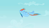 Rainbow Dash doing a backstroke in midair S2E07