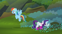 Rainbow and Rarity look for more Azurantium S8E17